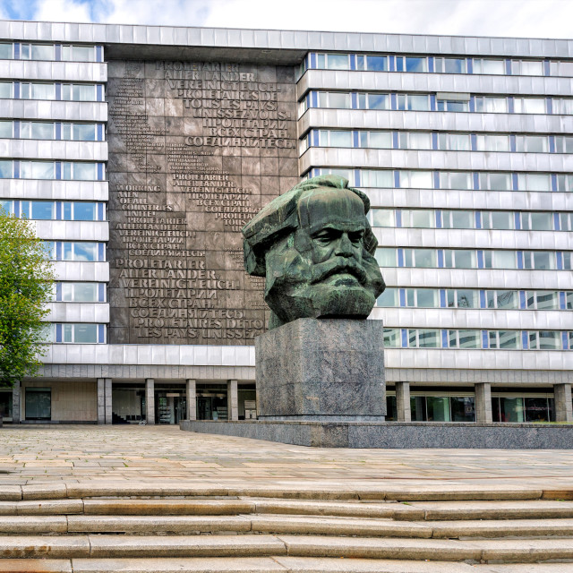 """The Karl Marx Monument, Chemnitz, Germany"" stock image"