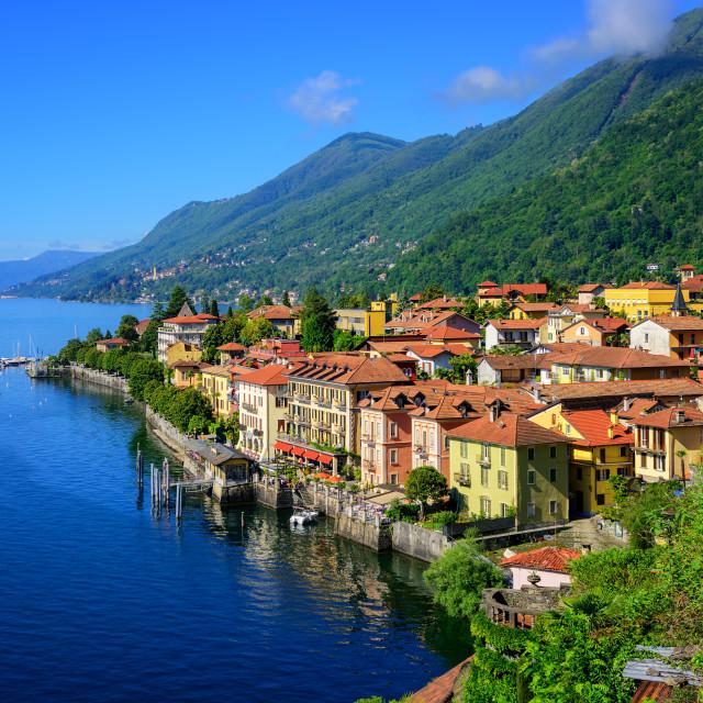 """""""Cannero Riviera old town, Lago Maggiore, Italy"""" stock image"""