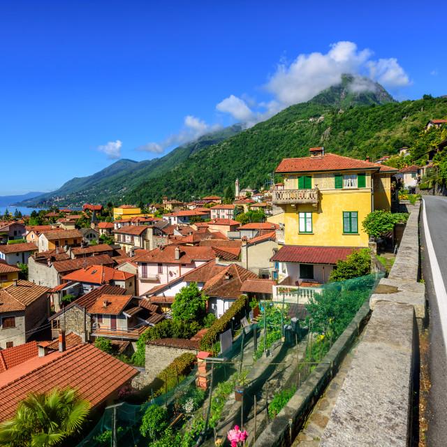 """Cannero old town, Lago Maggiore, Italy"" stock image"