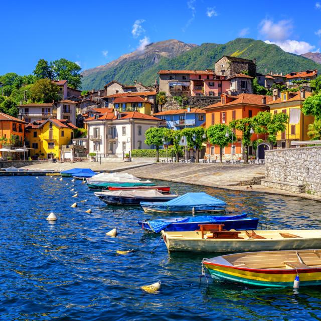 """""""Mergozzo old town, Lago Maggiore, Italy"""" stock image"""