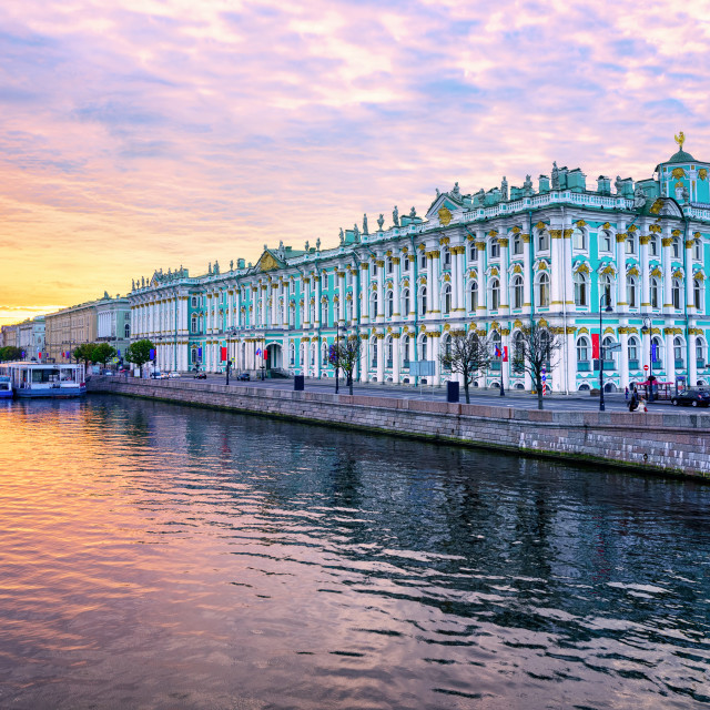 """Winter Palace on Neva river, St Petersburg, Russia"" stock image"