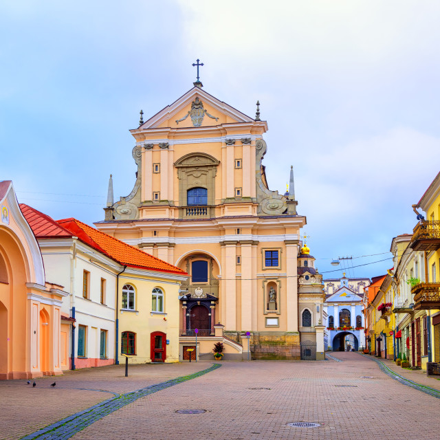 """Old town of Vilnius, Lithuania"" stock image"