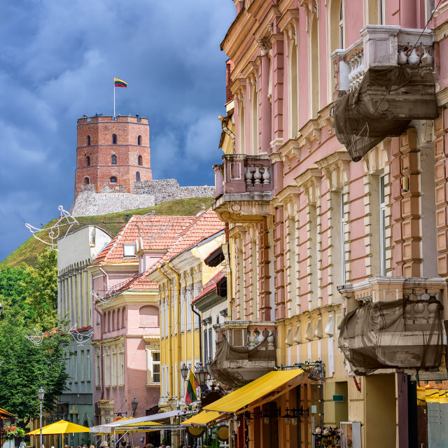 """Vilnius Old Town, Lithuania, Eastern Europe"" stock image"