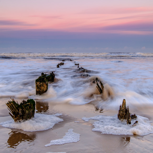 """High Tide At Sunset 2."" stock image"