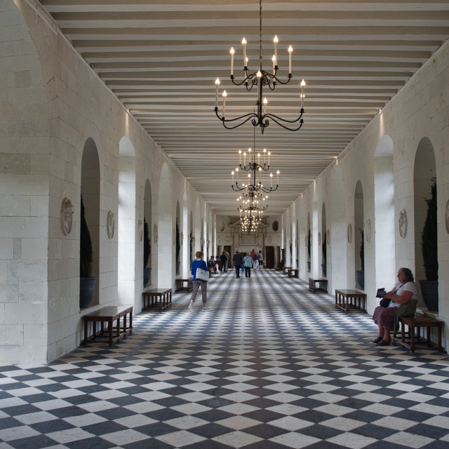 """Chateau de Chenenceau Gallery"" stock image"