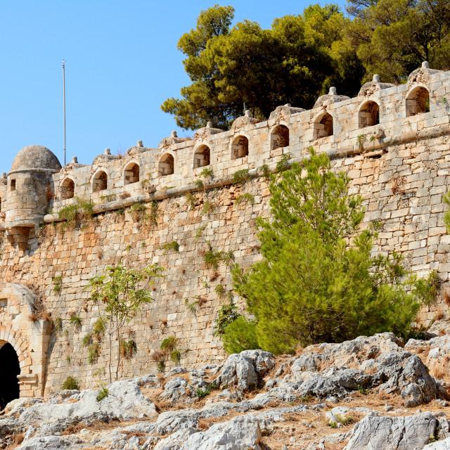 """Venetian castle in Rethymno, Crete, Greece"" stock image"