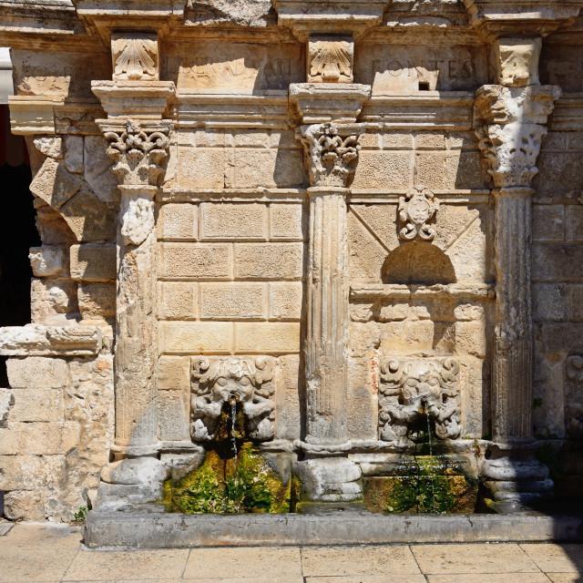 """""""Rimondi fountain, Rethymno, Crete"""" stock image"""