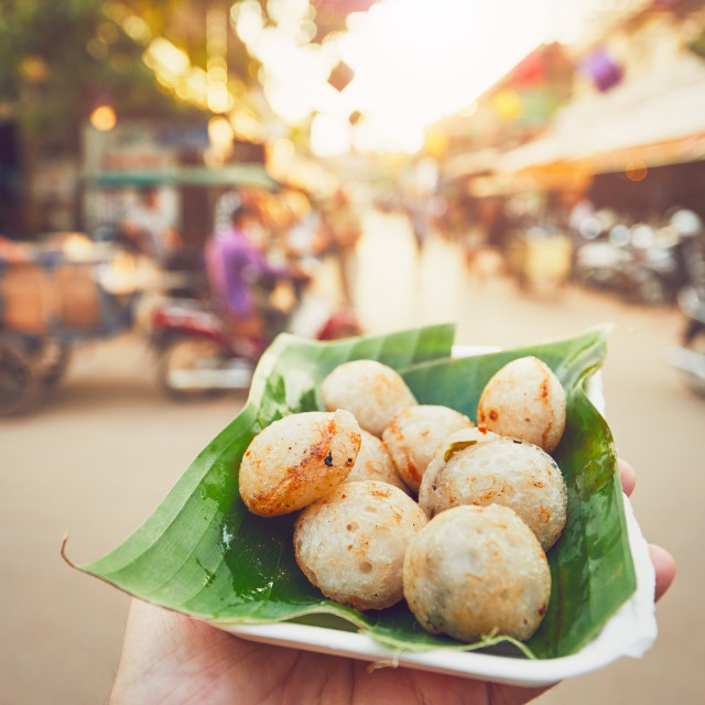 """Sweet food on the street market"" stock image"