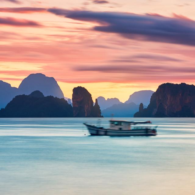 """""""Amazing sunrise on the sea"""" stock image"""