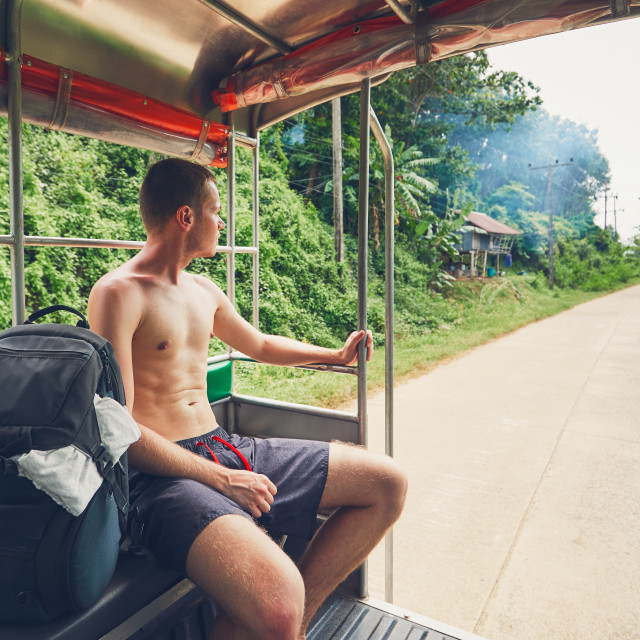 """Traveling through Thailand"" stock image"