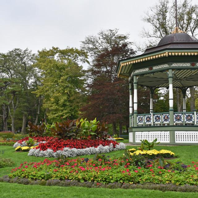 """Bandstand, Halifax Botanical Gardens"" stock image"