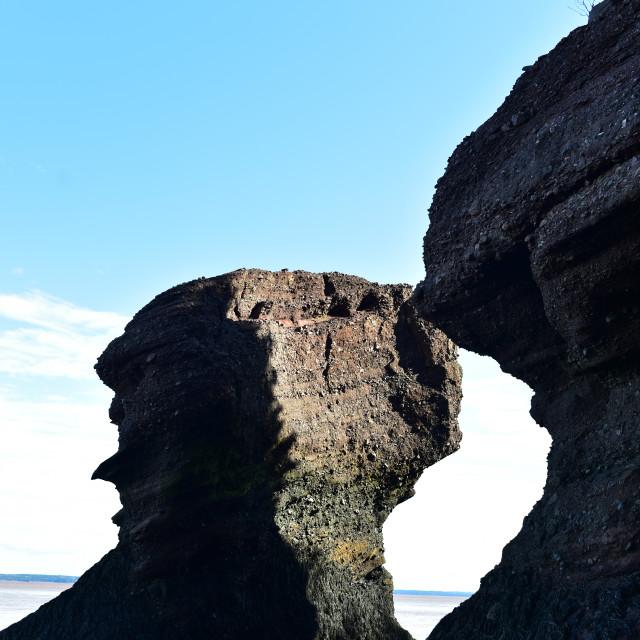 """Hopewell Rocks"" stock image"