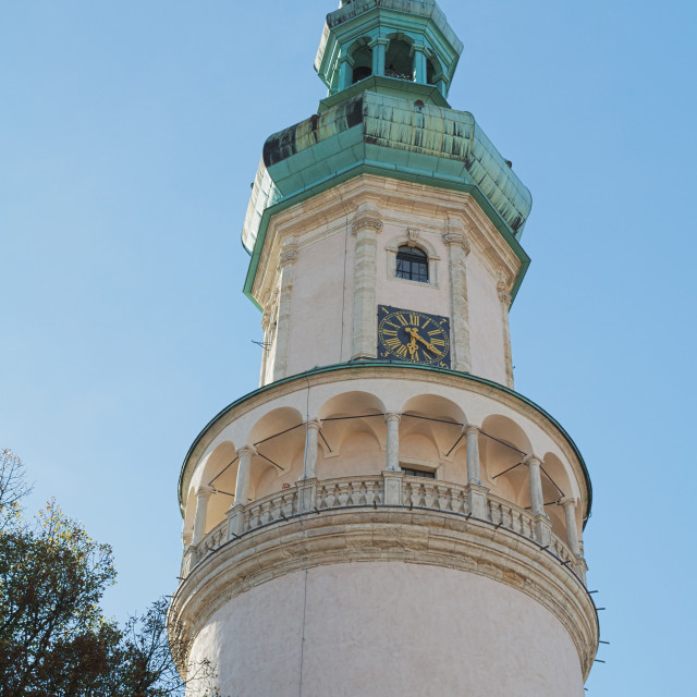 """""""Fire Watch Tower in Sopron"""" stock image"""