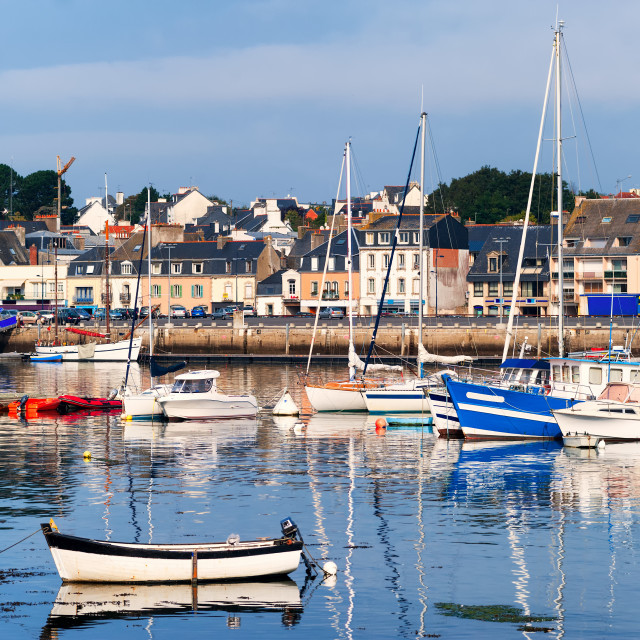"""""""Port of Concarneau, Brittany, France"""" stock image"""