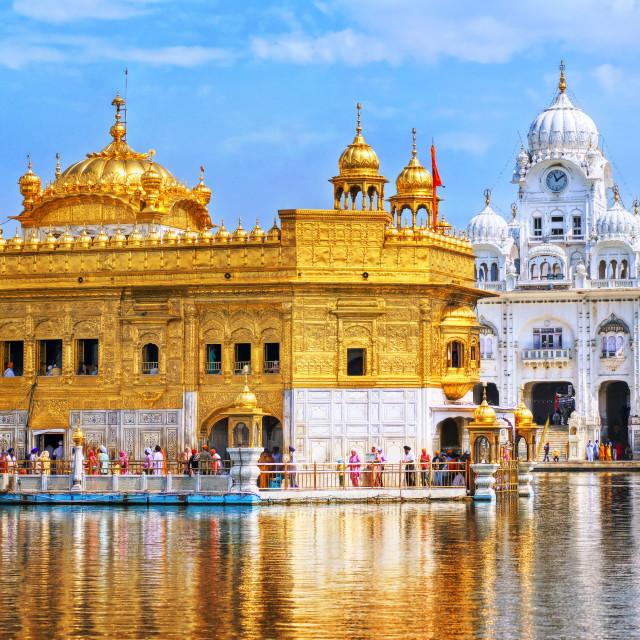 """Golden Temple, the main sanctuary of Sikhs, Amritsar, India"" stock image"