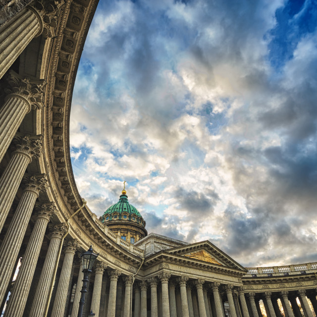 """Column gallery of Kazan Cathedral, St. Petersburg, Russia"" stock image"