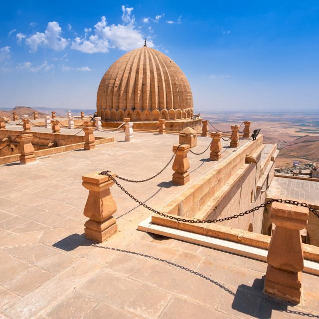 """Dome of Zinciriye Medrese, Mardin, south east Turkey"" stock image"