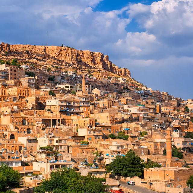 """Panoramic view of Mardin, Turkey"" stock image"