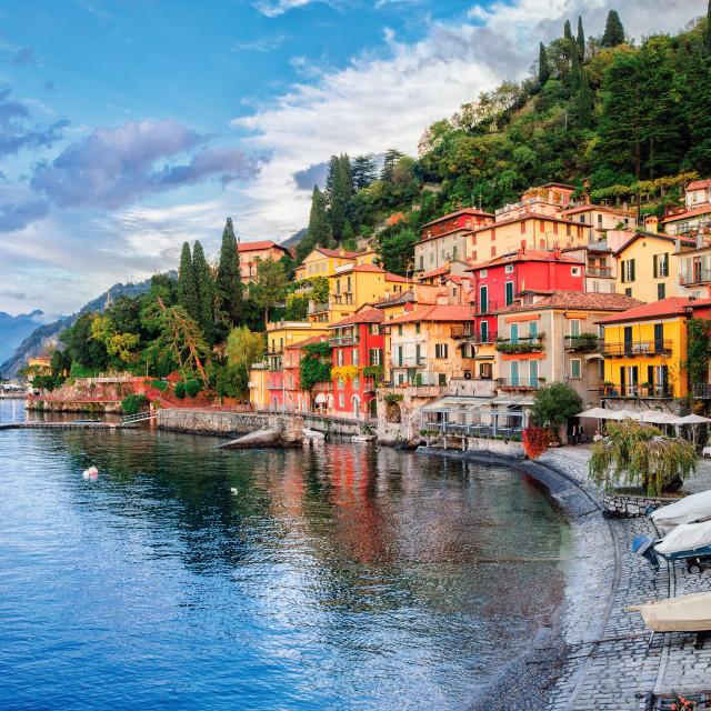 """""""Town of Menaggio on lake Como, Milan, Italy"""" stock image"""