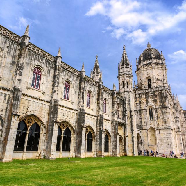 """Monastery dos Jeronimos, Lisbon, Portugal"" stock image"