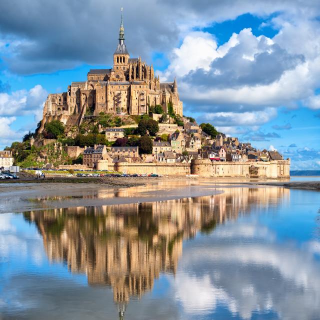 """""""Mont Saint-Michel, France"""" stock image"""