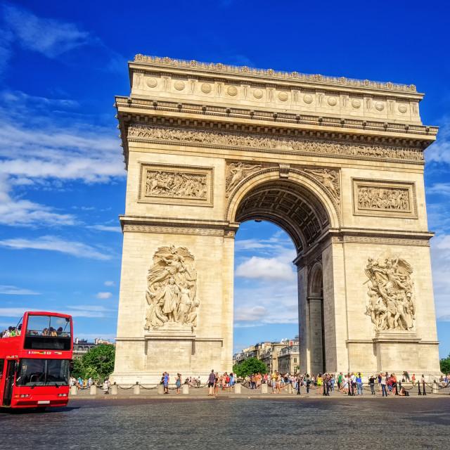 """""""The Triumphal Arch, Paris, France"""" stock image"""