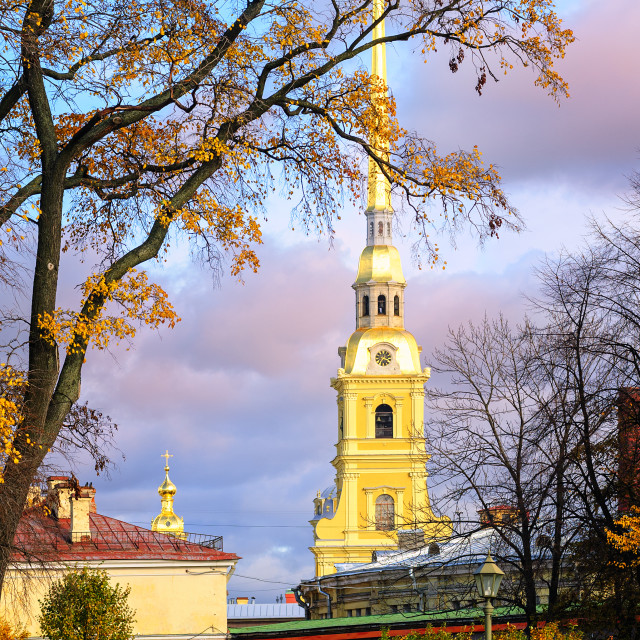 """""""Saints Peter and Paul Fortress, St Petersburg, Russia"""" stock image"""
