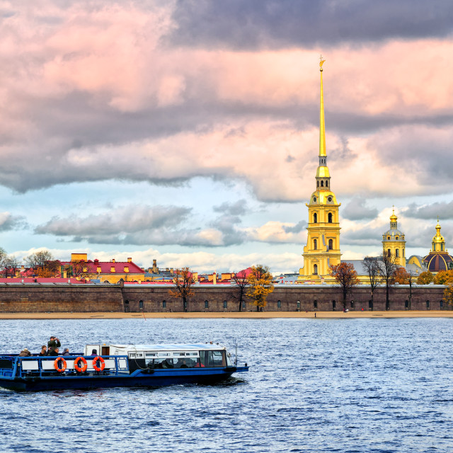 """St. Petersburg, Russia, Peter and Paul fortress"" stock image"