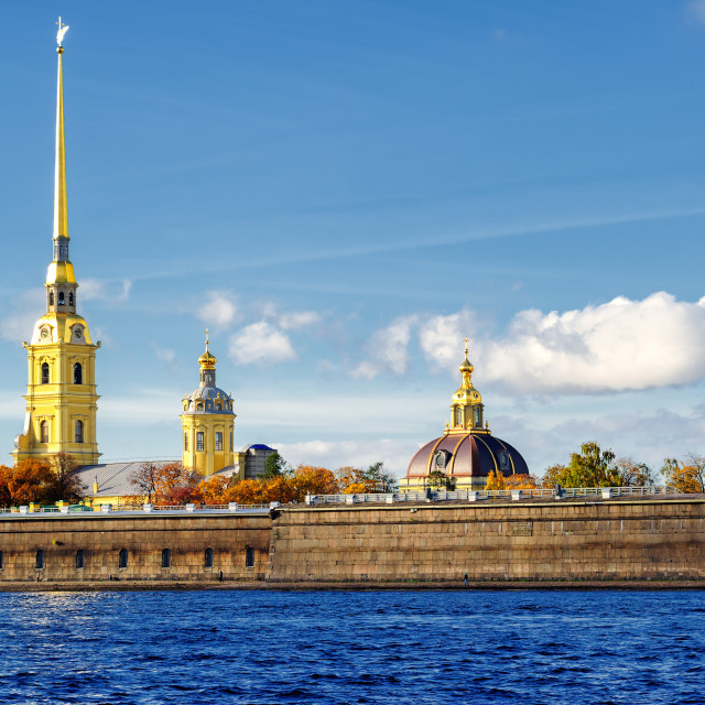 """""""Peter and Paul fortress, St Petersburg, Russia"""" stock image"""