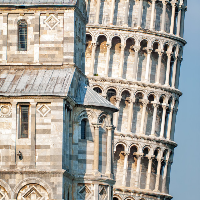 """""""Leaning tower of Pisa, Italy"""" stock image"""