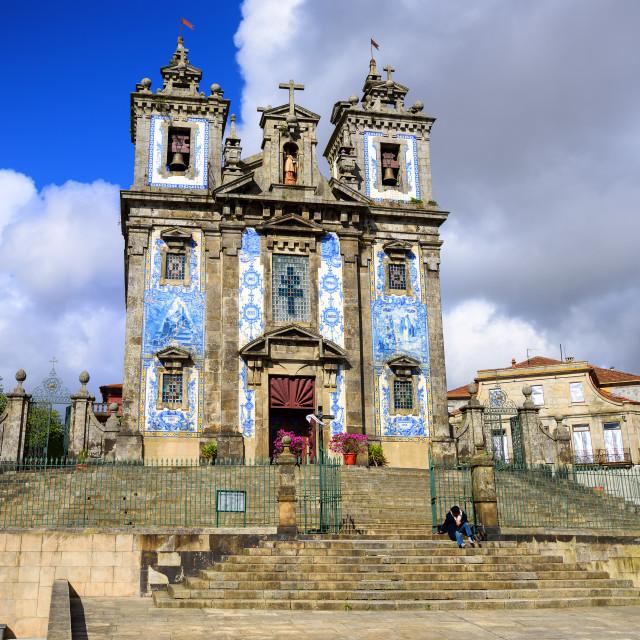 """Saint Ildefonso church, Porto, Portugal"" stock image"