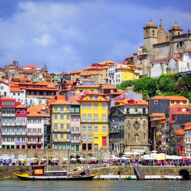"""""""Ribeira, the old town of Porto, Portugal"""" stock image"""