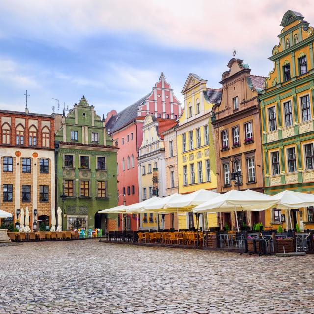 """Stary Rynek, Old Marketplace Square in Poznan, Poland"" stock image"