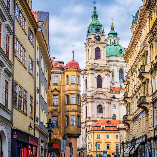 """""""Historical baroque buildings in the center of Prague, Czech Republic"""" stock image"""