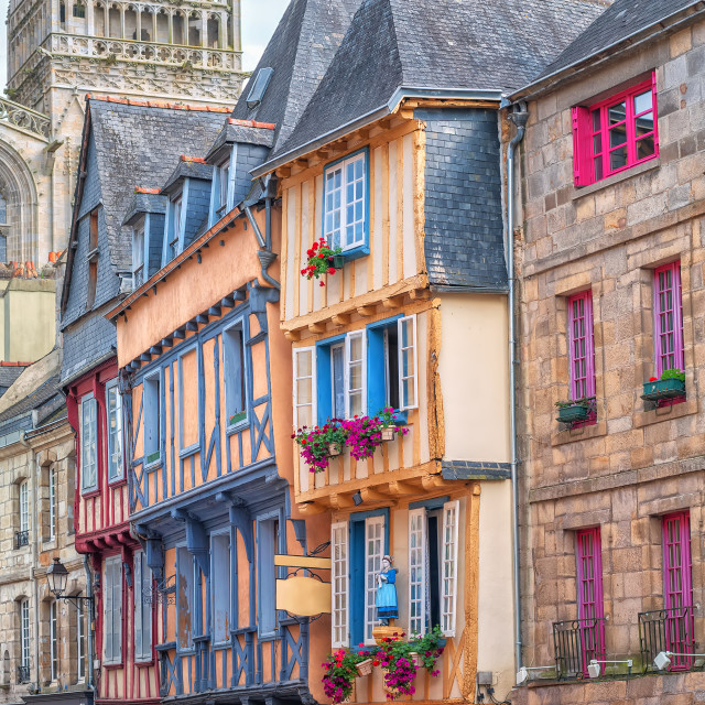 """""""Old town of Quimper, Brittany, France"""" stock image"""