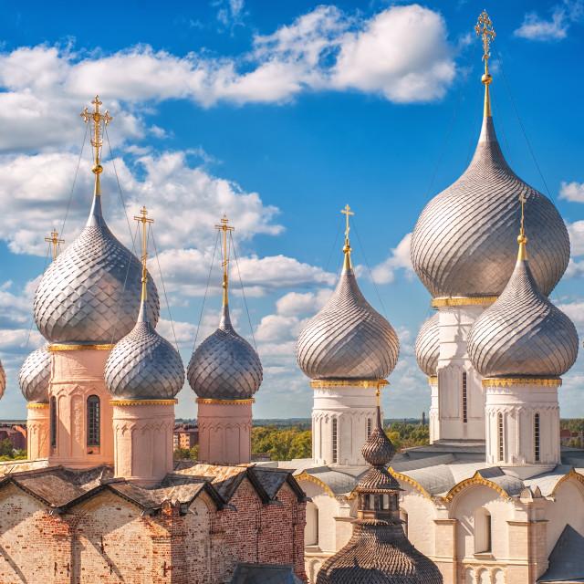 """Russian orthodox church domes"" stock image"