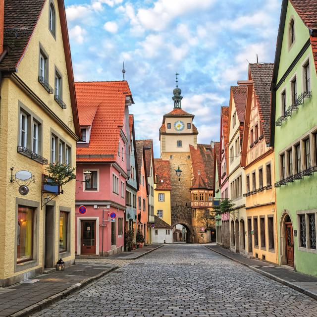 """""""Rothenburg ob der Tauber, Germany"""" stock image"""