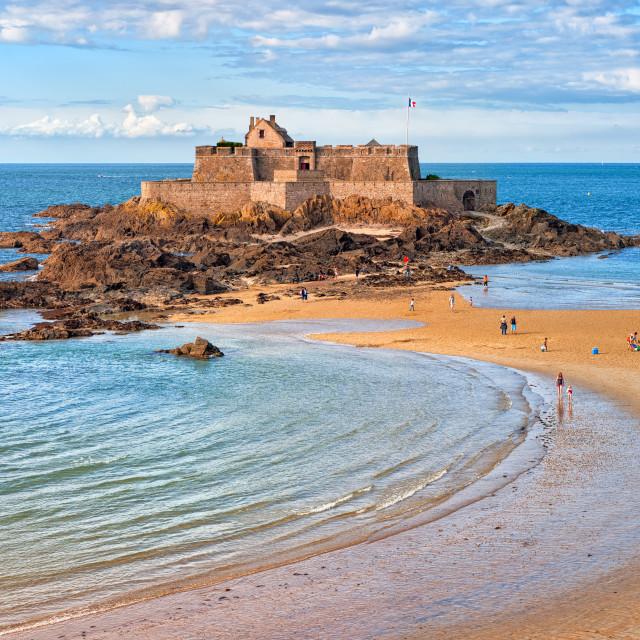 """Saint Malo, Brittany, France"" stock image"