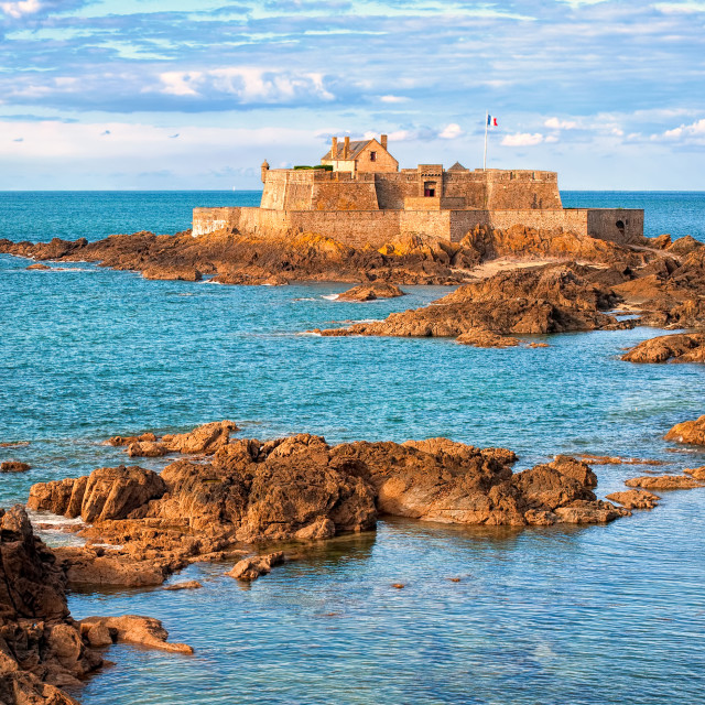 """""""English Channel by Saint-Malo, Brittany, France"""" stock image"""
