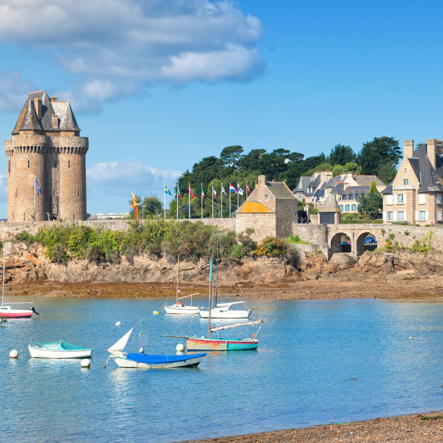 """""""English Cnannel lagoon by St Malo, Brittany, France"""" stock image"""