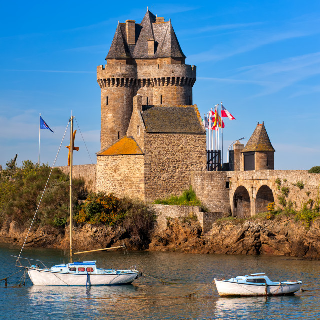 """""""Solidor Tower, Saint-Malo, Brittany, France"""" stock image"""