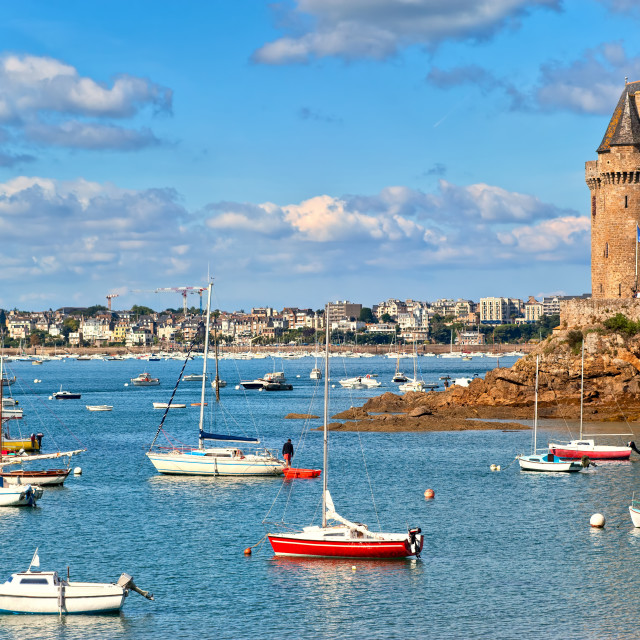 """""""Solidor Tower, Saint Malo, Brittany, France"""" stock image"""
