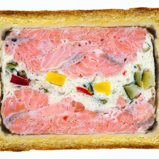 """""""French salmon pate isolated on white"""" stock image"""