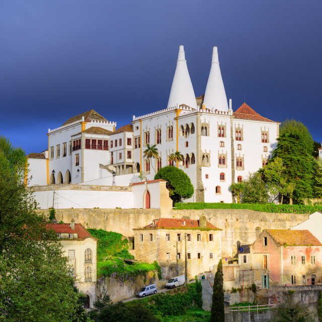 """""""The National Palace, Sintra, Portugal"""" stock image"""