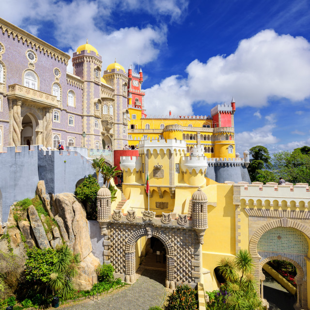"""Pena palace, Sintra, Portugal"" stock image"