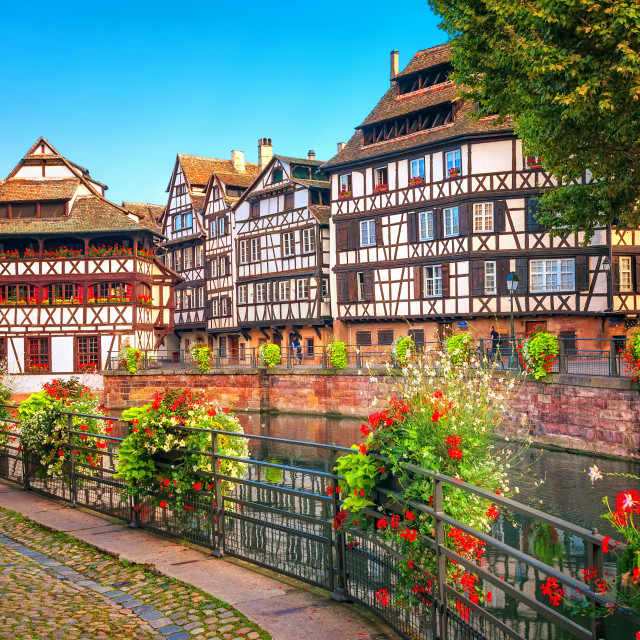 """Strasbourg, La Petite France district, France"" stock image"