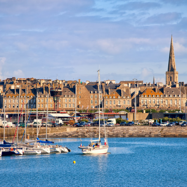 """Saint-Malo, Brittany, France"" stock image"