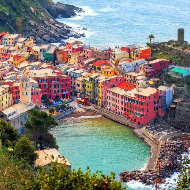 """Vernazza in Cinque Terre, Italy"" stock image"