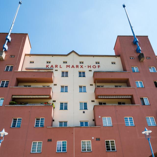 """""""Karl Marx Hof buildings in Vienna"""" stock image"""