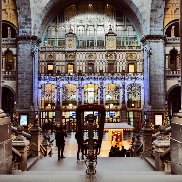 """Antwerpen Centraal - Railway station"" stock image"